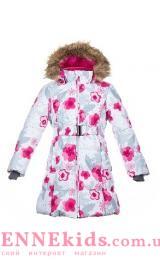 Huppa (Хуппа) YACARANDA  12030030-81920 пальто зимнее (белое в цветы)