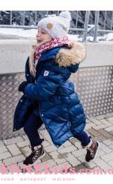 Reima Satu 531352-6980 пальто-пуховик зима 2019 (синее)