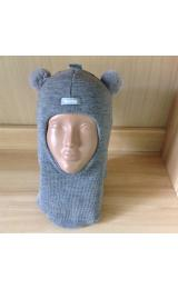 Зимний шлем Beezy 1402/1  мишка (серый)