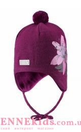 Lassie 718773-4841 шапка зимняя для девочки (цветок)