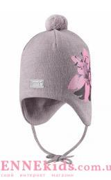 Lassie 718773-9321 шапка зимняя для девочки (серая)