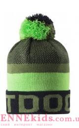 Lassie 728767- 8581 шапка зимняя для мальчика (зеленая)