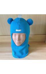 Зимний шлем Beezy 1402/3  мишка (бирюза)