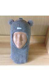 Зимний шлем Beezy 1402/9 мишка (серый)