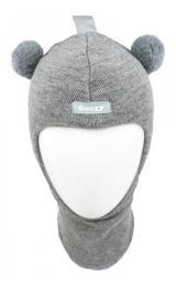 Зимний шлем Beezy 1402/1 мишка (серый меланж)