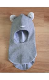 Демисезонный шлем Beezy 1702/11  мишка (серый)
