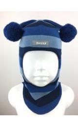 """Демисезонный шлем Beezy 1706/34  """"принц"""" (синяя полоска)"""