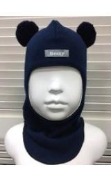 Демисезонный шлем Beezy 1702/9  мишка (синий)