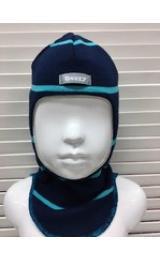 """Демисезонный шлем Beezy 1511/22  """"балаклава"""" (синий в полоску)"""